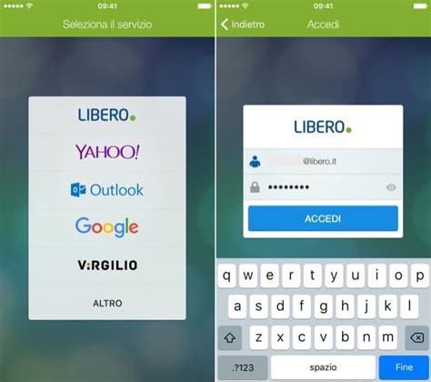 libero mail mobil configurare libero mail mobile su iphone