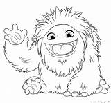 Yeti Coloring Pages Animation Abominable Printable Popular sketch template