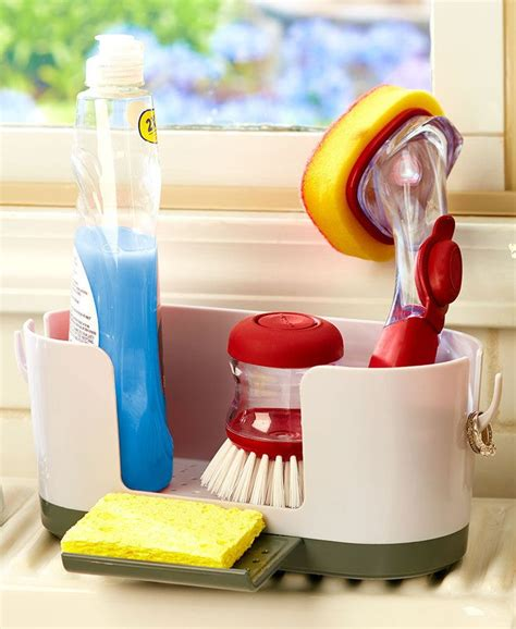 kitchen sink holder kitchen sink caddy organizer with ring holder holds your 2741