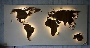 Weltkarte Bild Holz : wanddeko beleuchtete holz weltkarte mauch 125x61cm ~ Lateststills.com Haus und Dekorationen
