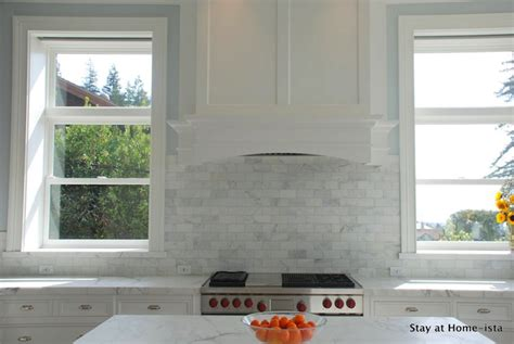 marble subway tile kitchen backsplash marble subway tile transitional kitchen stay at homeista 9121
