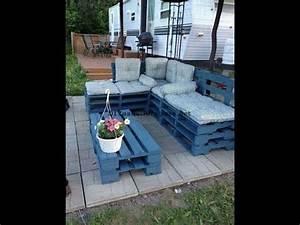 Comment Faire Un Canapé En Palette : comment faire facilement un canap chaise longue en utilisant des palettes enti res youtube ~ Dallasstarsshop.com Idées de Décoration
