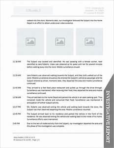 14 private investigator surveillance report template for Private investigator surveillance report template