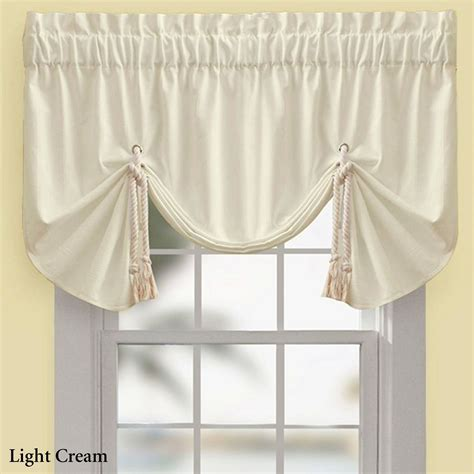 tie up valance regalia sail tie up window valance by croscill