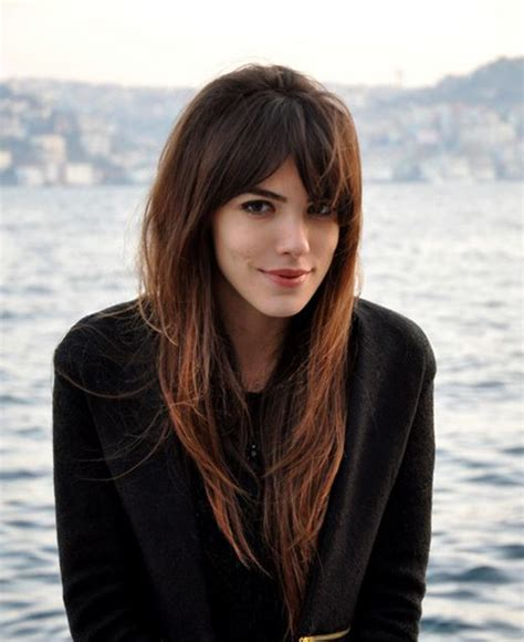 15 lovely hairstyles with long bangs hairstyles