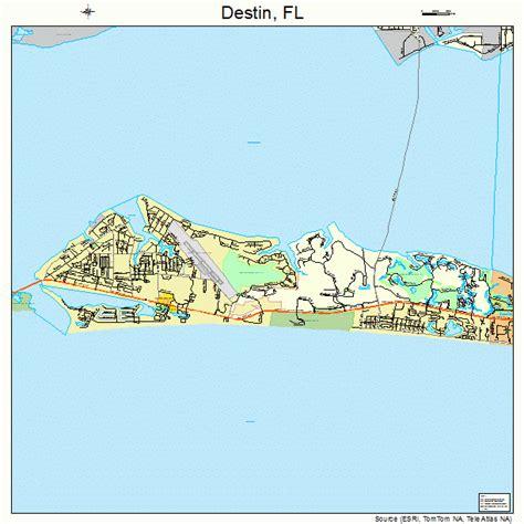 destin florida street map