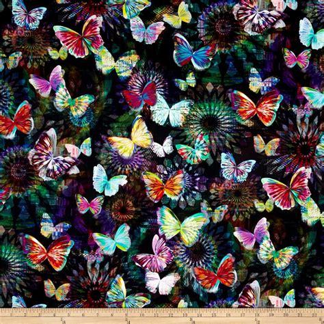 print fabrics crystalia digital print butterfly onyx discount designer fabric fabric com