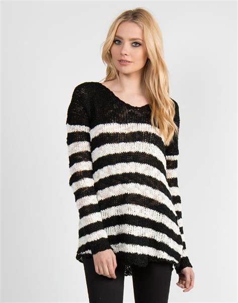 black and white striped sweater dreamy black and white striped sweater medium tops