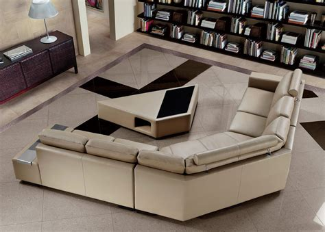 Best coffee table for sectional. Tera Beige Sectional Sofa with Coffee Table