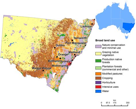 land  map   south wales maps  australia