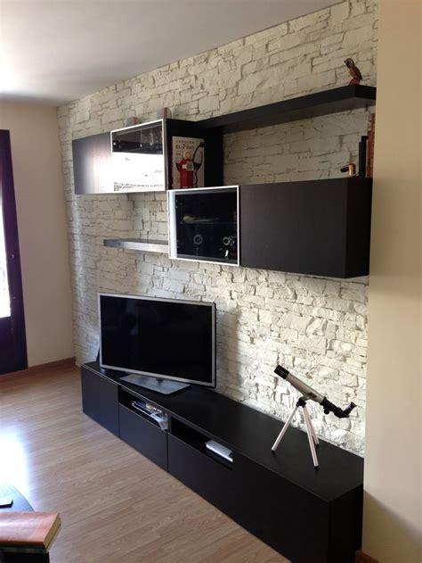 wandverkleidung stein optik wandgestaltung wohnzimmer in