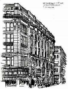 NYC Buildings sketch – 3 January 2013   Handmade Ransom Notes
