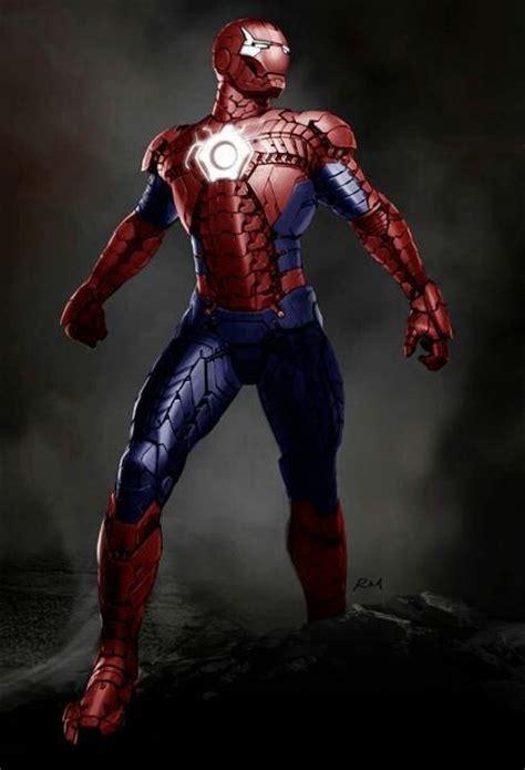 Ironman Spiderman Mashup  Iron Man  Pinterest Armors