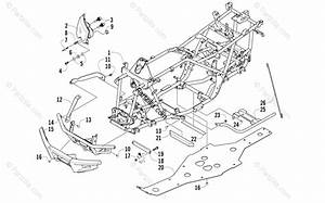 Arctic Cat Atv 2006 Oem Parts Diagram For Frame And