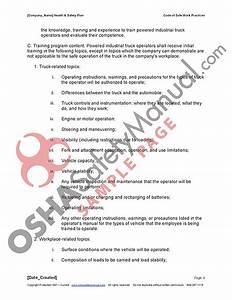 02 - Code Of Safe Work Practices