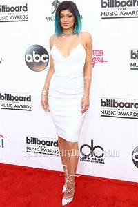 Kylie Jenner White Short Cocktail Dress Billboard Music Awards Red Carpet - TheCelebrityDresses