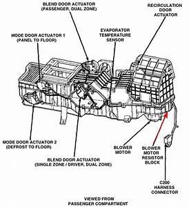 2001 Dodge Durango Blower Motor Resistor Diagram  2001
