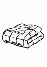 Blanket Coloring Clipart Folded Webstockreview sketch template