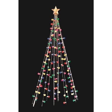 home accents 7 ft cone tree with 105 multi color