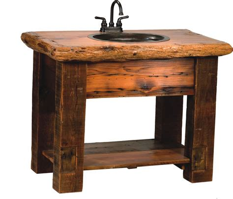 Rustic Bathroom Furniture by Rocky Mountain Barnwood Vanity Rustic Furniture Mall By