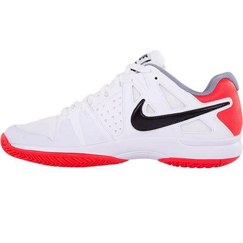 nike air vapor advantage mens tennis shoe whiteorange