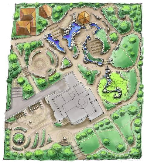 landscape architecture drawing argyle park topiary garden public demonstration leaf