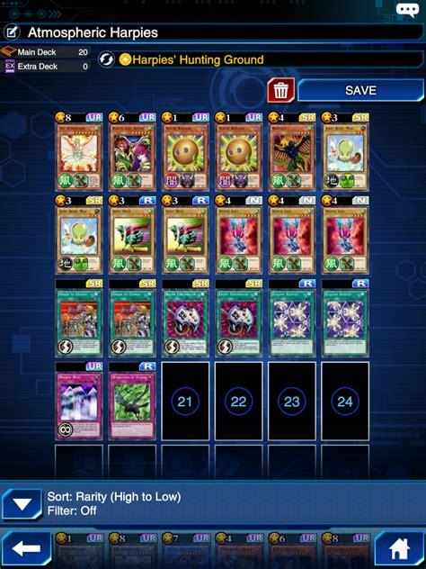 harpie lady deck duel links 28 images yugioh duel
