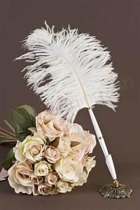 Wedding Antique Look Feather Pen - Wedding Wish