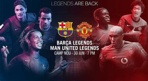 Barcelona Legends vs Manchester United Legends Highlights