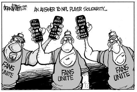 nfl players solidarity   fans solidarity