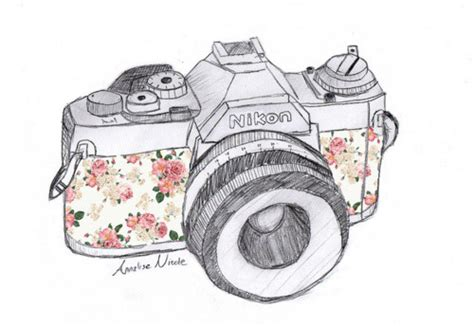 floral camera drawing tumblr