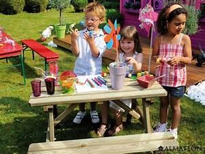Table Pique Nique Enfant : table pique nique pour enfants en bois wapiti almateon ~ Dailycaller-alerts.com Idées de Décoration