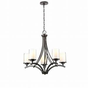 Hampton bay light oil rubbed bronze ceiling chandelier