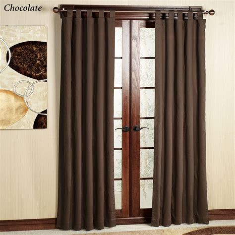 Tab Top Drapes Curtains - weathermate solid thermalogic tm tab top curtains