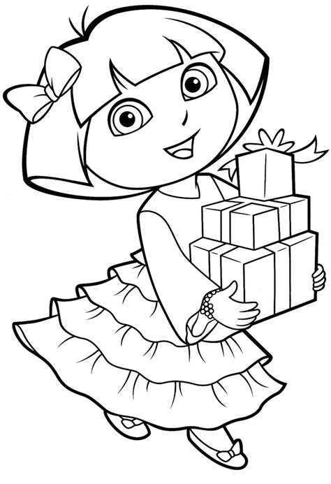 printable dora coloring pages  printable coloring