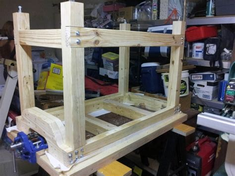 hollow door workbench  outfeed   extension