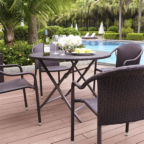 crosley palm harbor 5 outdoor dining set w