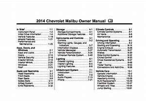 2014 Chevrolet Malibu Owners Manual
