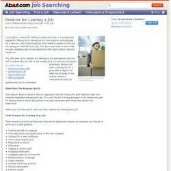 job application reason for leaving answers job application