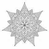 Geometric Coloring Pages Printable Adults sketch template
