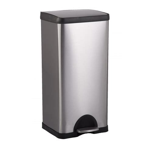 kitchen trash can bestoffice 10 gallon 38l step stainless steel trash can