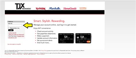 It will allow you to make payment to your credit, check your card balance and rewards. www.tjmaxx.com Member Login - TJX Rewards Access Bill Pay
