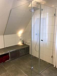 Bad Mit Dachschräge Dusche : ebenerdige dusche mit glaskabine und sitzbank unter der dachschr ge b der nur mit dusche in ~ Bigdaddyawards.com Haus und Dekorationen