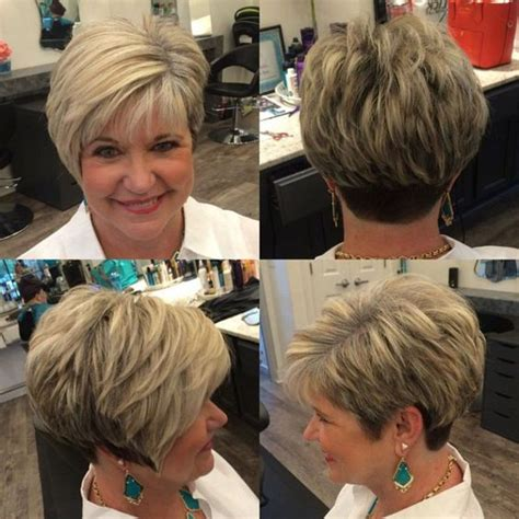 short angled wedge haircut    younger short