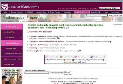 mathematical properties   grade math standards  ic