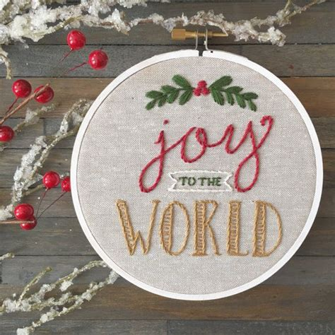 joy   world hand embroidery christmas decoration