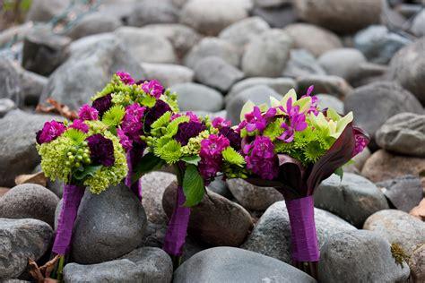 Magenta Green And Purple Wedding Stadium Flowers