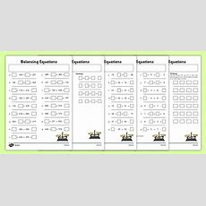Balancing Equations Activity Sheet Pack  Balancing, Equations