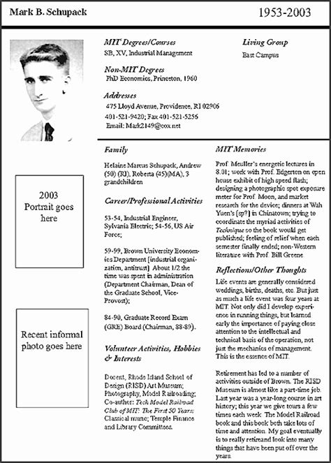 Air Force Biography Template Gallery