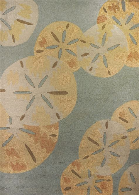 Homefires Sand Dollars by the Sea Area Rug